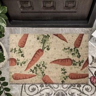 """18""""X30"""" Coir Fibre Carrot Door Mat"""""""