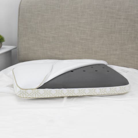 Tommy Bahama Charcoal Infused Memory Foam Gusseted Bed Pillow
