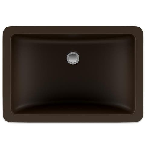 Lexicon Platinum V214 Quartz Composite Rectangle Vanity Sink - Mocha