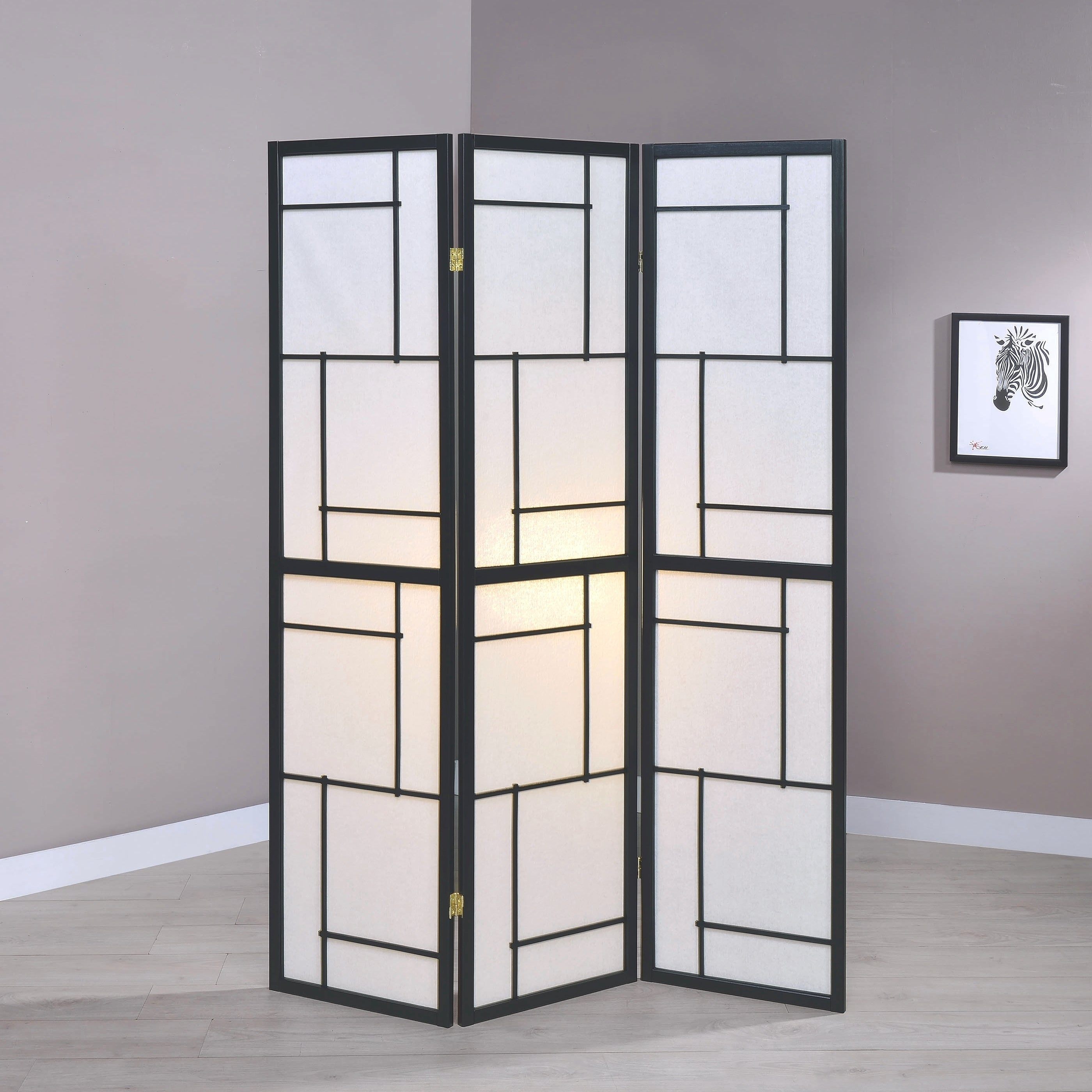 Contemporary Geometric Pattern Folding Screens Room Divider Overstock 28353544