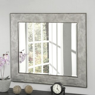 Carbon Loft Rusted Edge Aged Zinc Wall Mirror