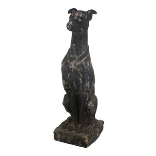 Link to A&B Home Distressed Black Dog Magnesian Figurine Similar Items in Outdoor Decor