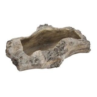 Haven Natural Wood Medium Cement Planter