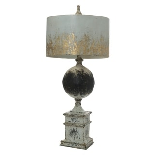 Bellamy 1-light Antique White and Black Table Lamp