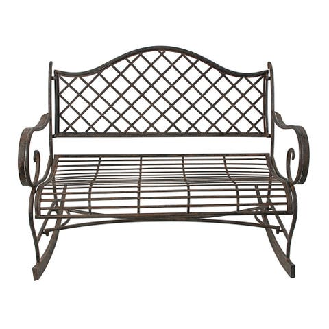 Home Lillian Bronze Outdoor Bench