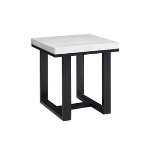 Luna White Marble Top End Table by Greyson Living