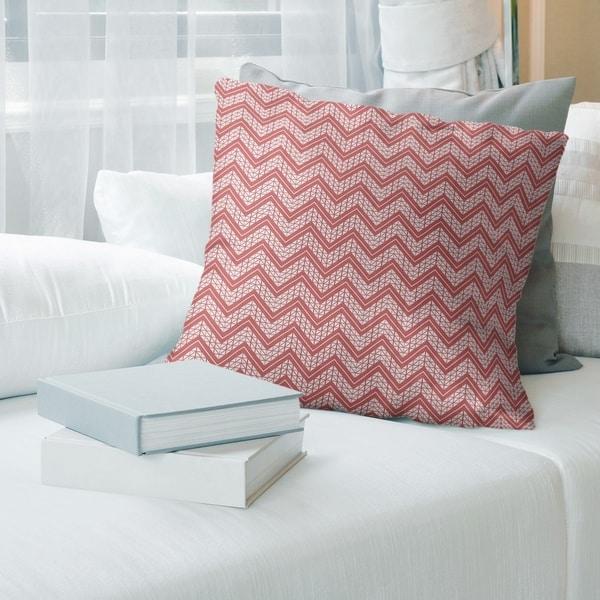 Warm Classic Hand Drawn Chevron Pattern Throw Pillow