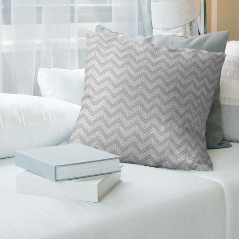 Cool Classic Hand Drawn Chevron Pattern Throw Pillow