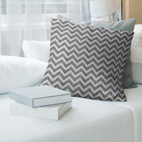Cool Reverse Classic Hand Drawn Chevrons Throw Pillow