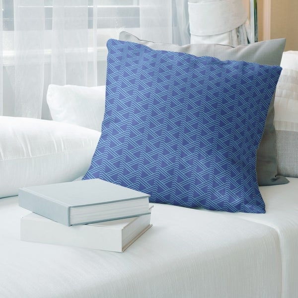 Teal Accent Color Zig Zag Pattern Throw Pillow
