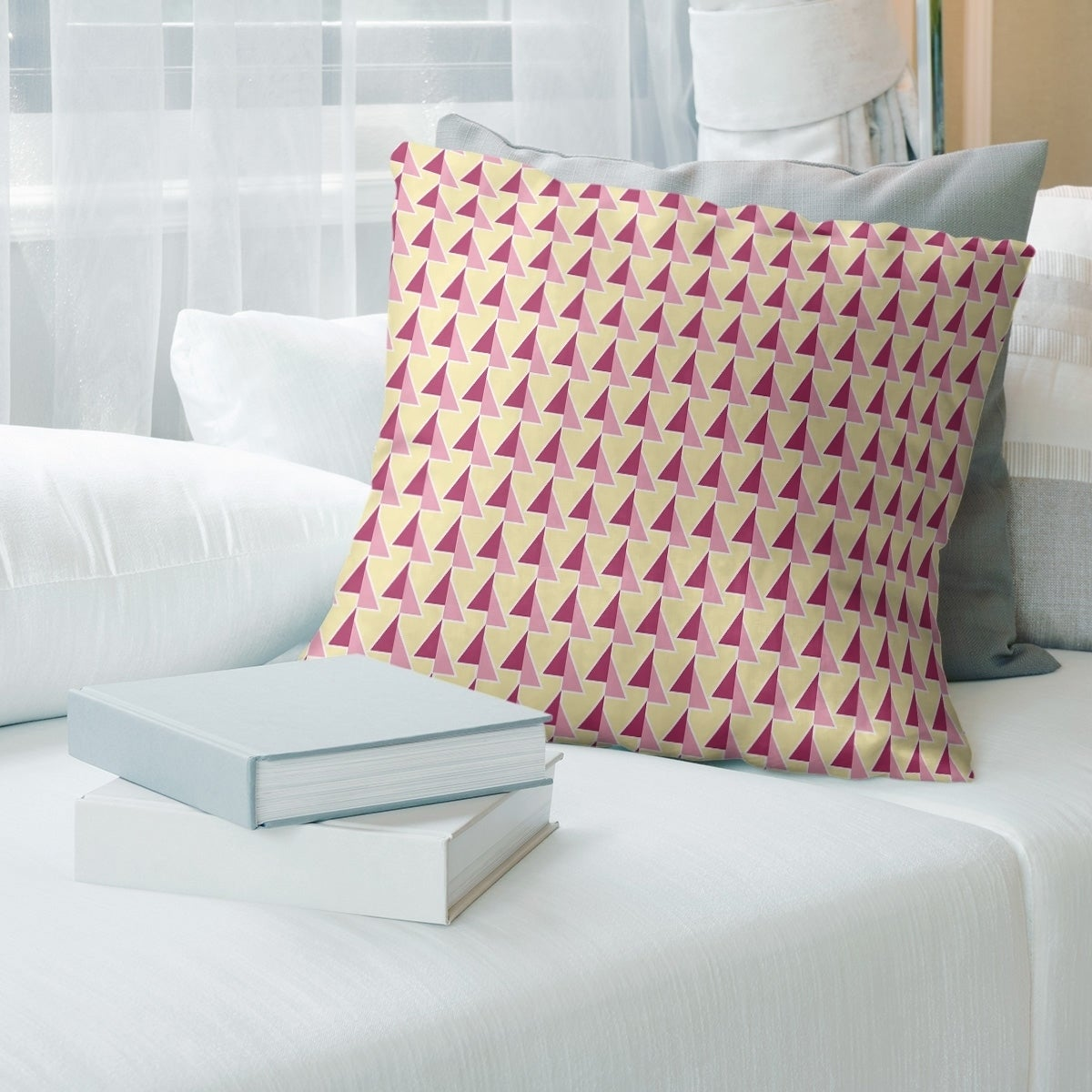 Two Color Shifted Arrows Pattern Throw Pillow Overstock 28355596