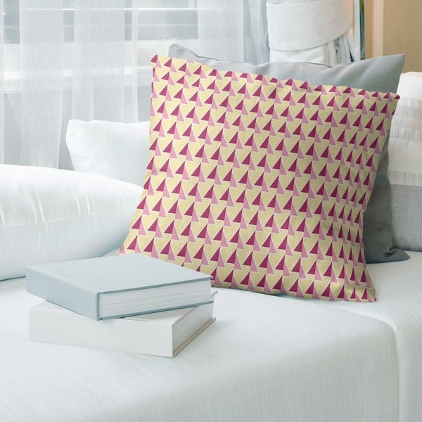 Two Color Shifted Arrows Pattern Throw Pillow
