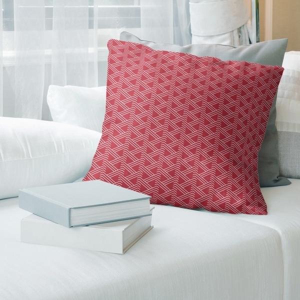 Warm Tones Classic Zig Zag Pattern Throw Pillow
