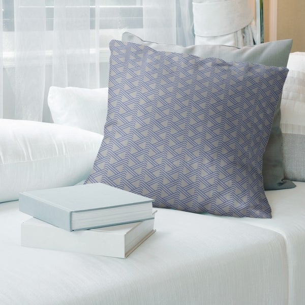 Gray Color Zig Zag Pattern Throw Pillow