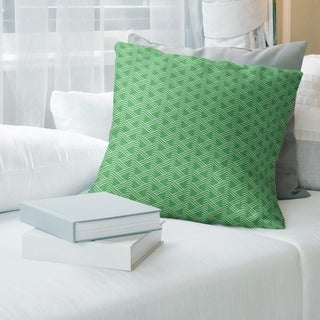 Cool Tones Classic Zig Zag Pattern Throw Pillow