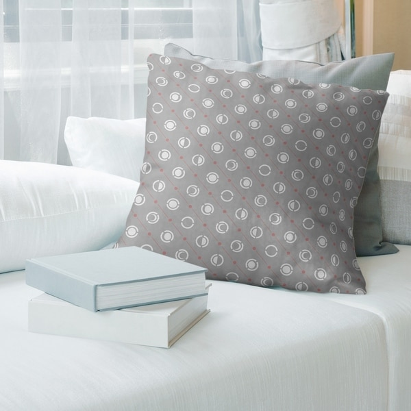 Gray with Warm Accent Moon Phases Throw Pillow