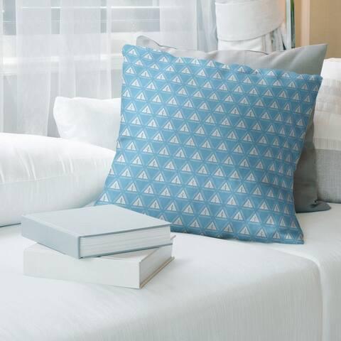 Cool Tone Minimalist Tree Pattern Throw Pillow