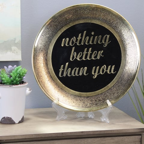 Natural Geo Nothing Better Than You Wall Hanging Brass Accent Plate