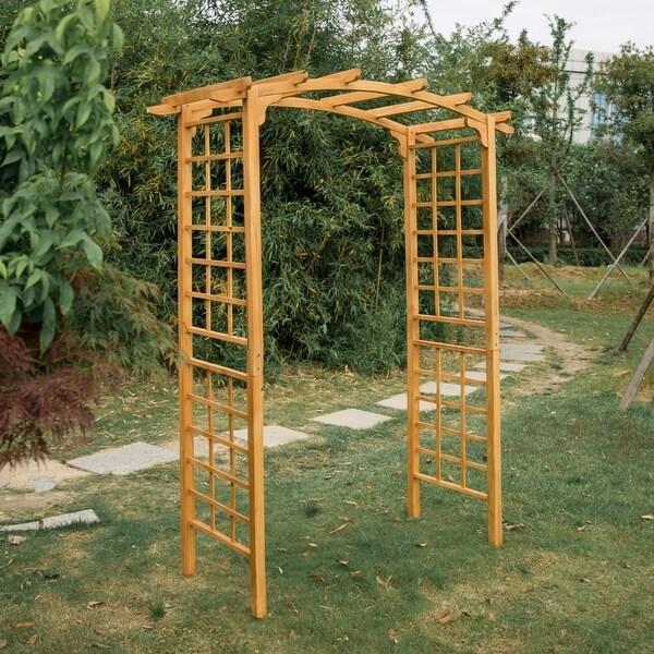 "Kinbor Wood Arbor Outdoor Trellis Pergola Garden Arch Wedding Decoration 90"" High X 28.3"" Wide by Generic"