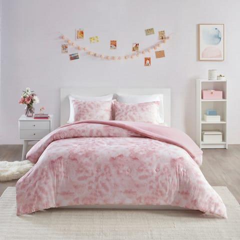 Intelligent Design Hailey Printed Jersey Knit Comforter Set 2-Color Option