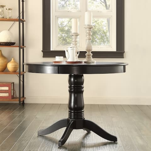 Copper Grove Lauterberg Black Round Pedestal Dining Table - Dining Table