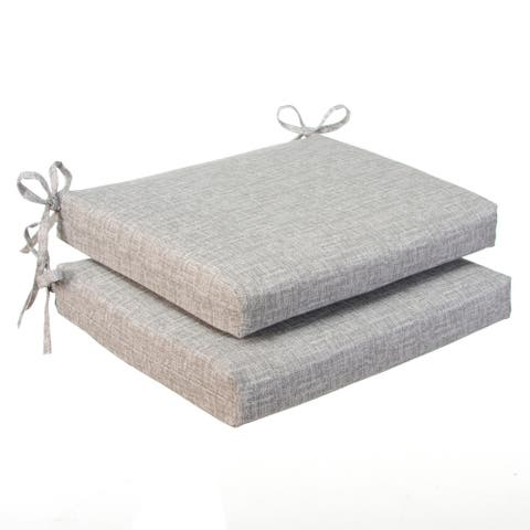Glasgow Storm Grey Seat Square Cushion (Set of 2) by Havenside Home - 18.5X16