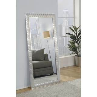 Silver Orchid Adoree Metallic Silver Full Length Leaner Mirror