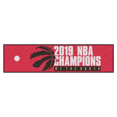 """Toronto Raptors 2019 NBA Finals Champions Putting Green Mat 18""""x72"""""""
