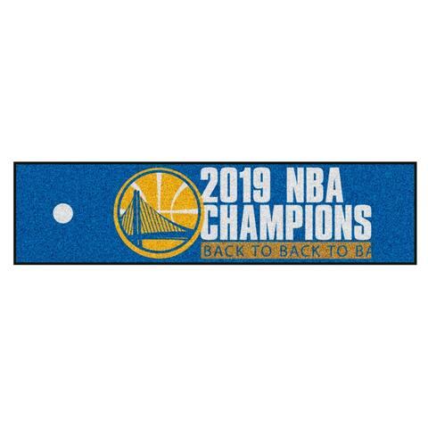"""Golden State Warriors 2019 NBA Finals Champions Putting Green Mat 18""""x72"""""""