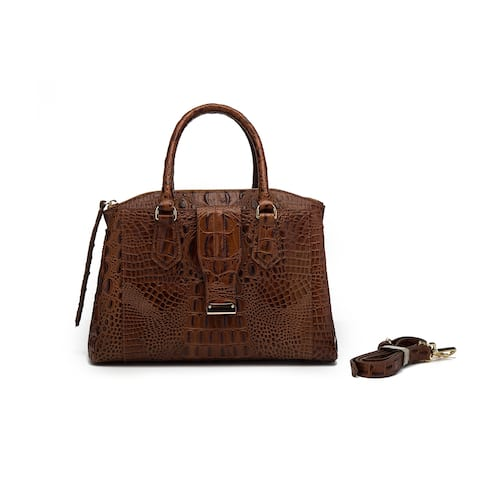 Olivia Croc Leather handbag