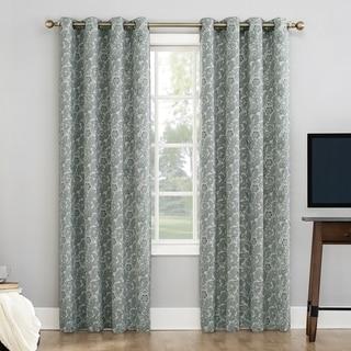 Link to Sun Zero Dagmar Botanical Paisley Extreme 100% Blackout Grommet Curtain Panel Similar Items in Window Treatments