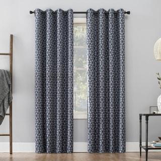 Shop Celestina Wave Jacquard Grommet Blackout Curtain