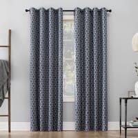 Sun Zero Burke Twill Mosaic Extreme 100% Blackout Grommet Curtain Panel