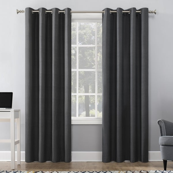 Sun Zero Duran Thermal Insulated Blackout Grommet Curtain Panel