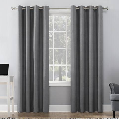 Sun Zero Duran Thermal Insulated Blackout Grommet Curtain Panel