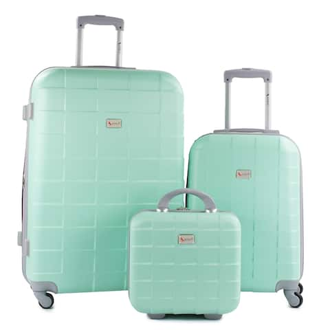 AMKA Palette 3-Piece Hardside Spinner Cosmetic Luggage Set