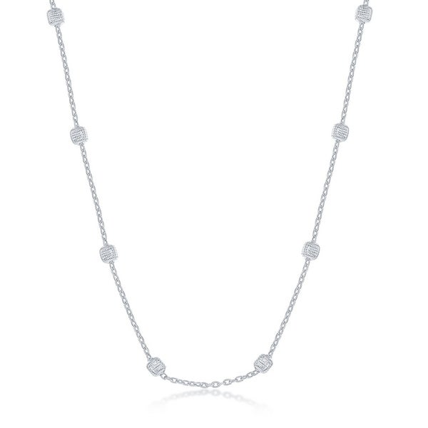 1.6mm Rounded Box Oxidized Sterling Silver Italian Chain Necklace