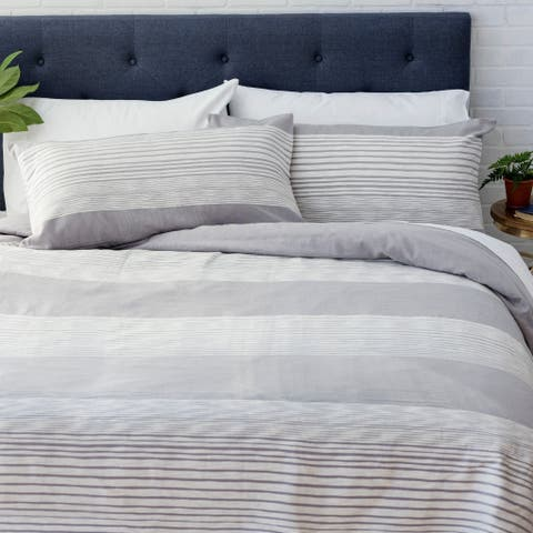Porch & Den Hilma Striped Cotton Duvet Cover Set