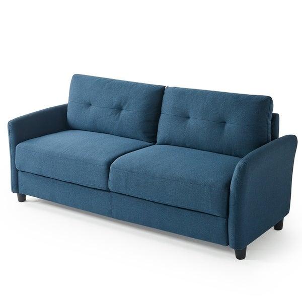Shop Priage By Zinus Contemporary Upholstered Sofa Blue