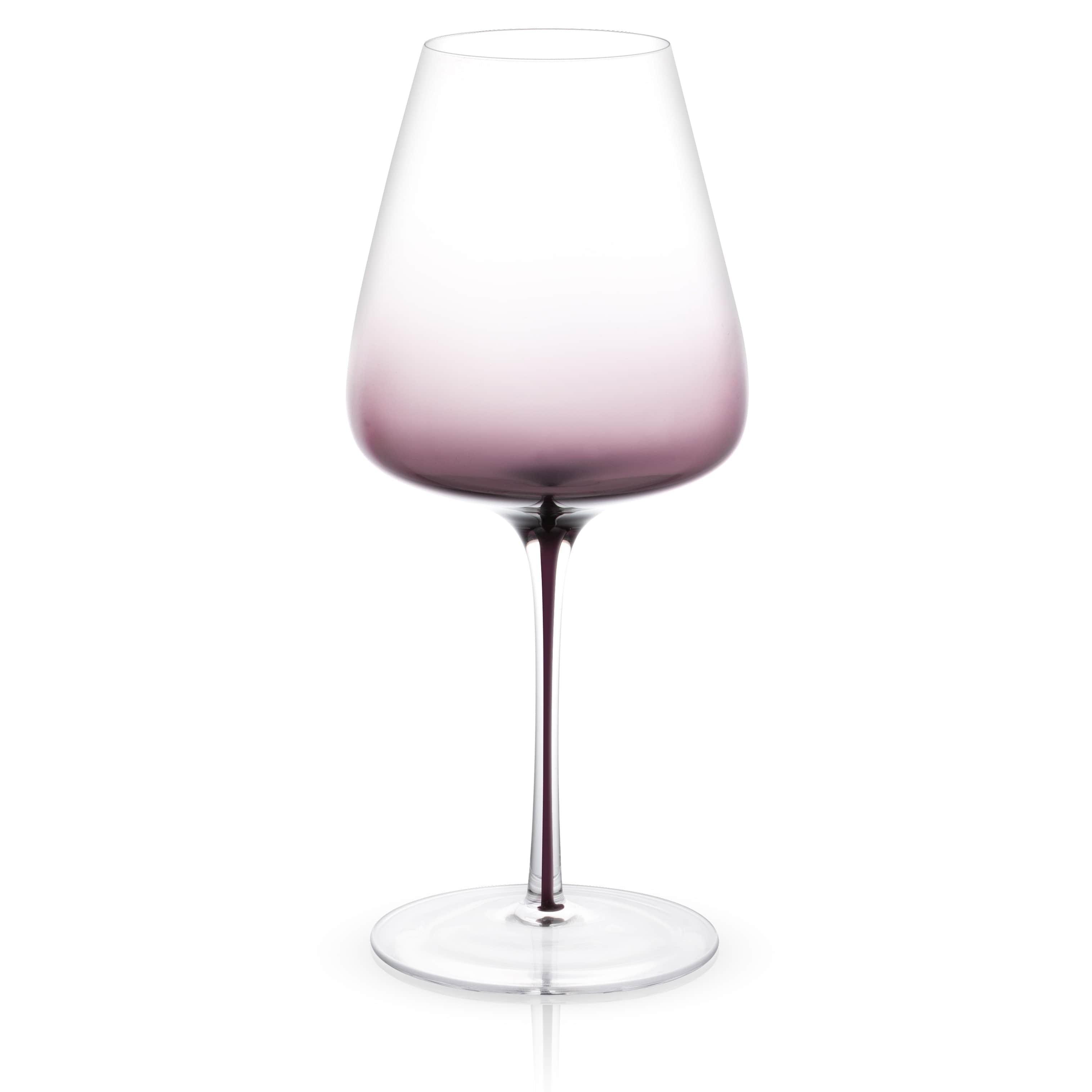 JoyJolt Black Swan Red Wine Glasses Set of two 26.8 Oz