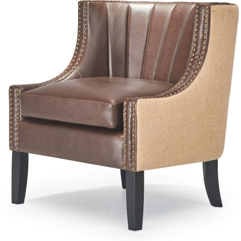 Tommy Hilfiger Dorset Leather Club Chair, Brown