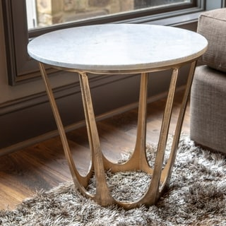 Luvino Marble-Topped Side Table