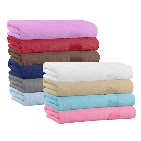 "Set of 6 Super Soft & High Quality Bath Towels 54"" L x 27"" W"