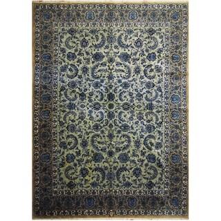Handmade One-of-a-Kind Kashan Wool Rug (Iran) - 10'2 x 14'2