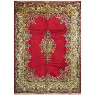 Handmade One-of-a-Kind Kerman Wool Rug (Iran) - 9' x 12'4