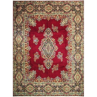 Handmade One-of-a-Kind Kerman Wool Rug (Iran) - 10' x 13'6