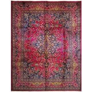 Handmade Mashad Wool Rug (Iran) - 9'10 x 12'9