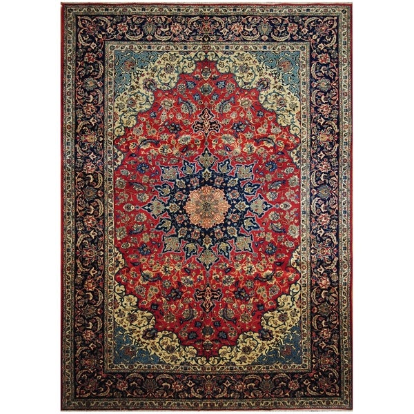 Handmade One-of-a-Kind Isfahan Wool Rug (Iran) - 9'7 x 13'6