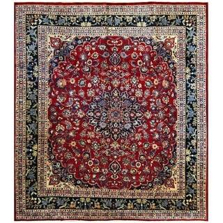 Handmade One-of-a-Kind Mashad Wool Rug (Iran) - 9'8 x 10'10