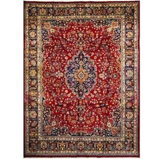 Handmade One-of-a-Kind Mashad Wool Rug (Iran) - 9'3 x 13'